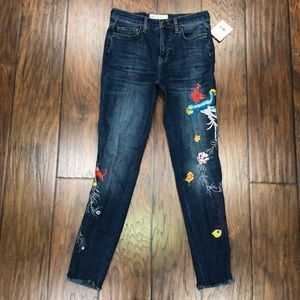 NEW Free People Embroidered Jeans